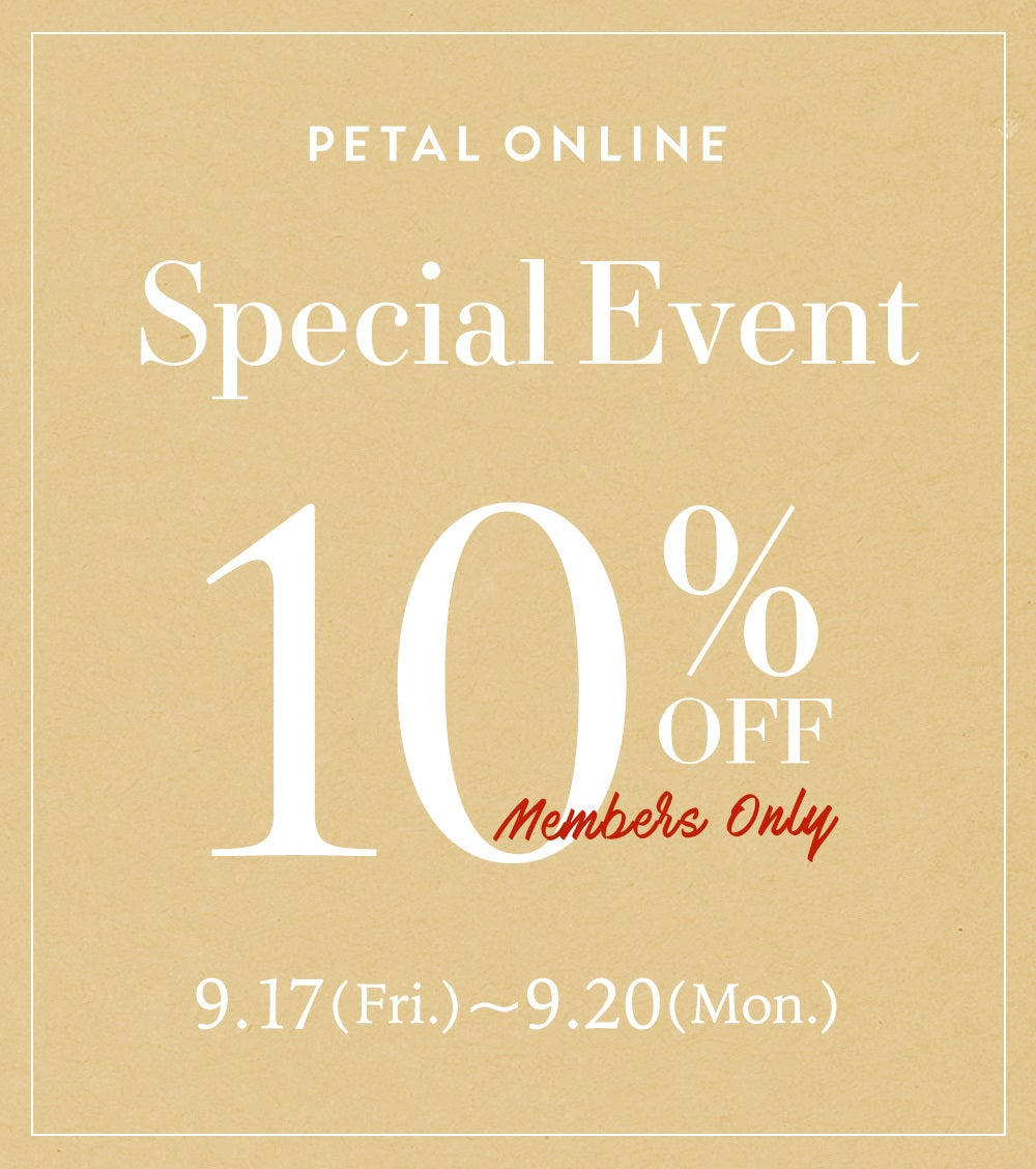 SPECIAL EVENT 10%OFF