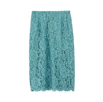 フラワーコードレースタイトスカート